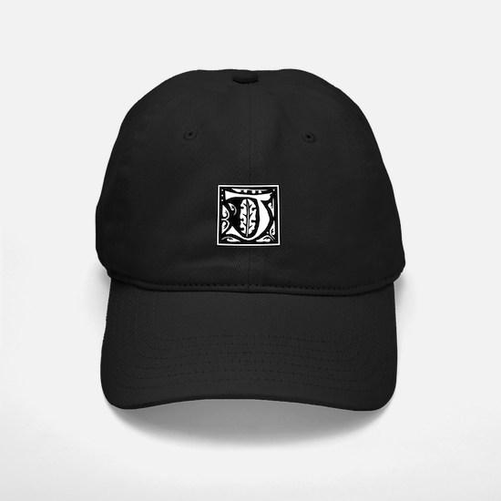 Art Nouveau Initial J Baseball Hat