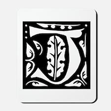 Art Nouveau Initial J Mousepad