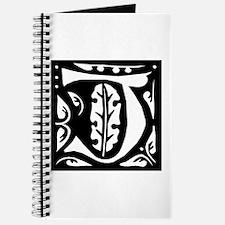 Art Nouveau Initial J Journal