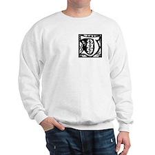 Art Nouveau Initial J Sweatshirt