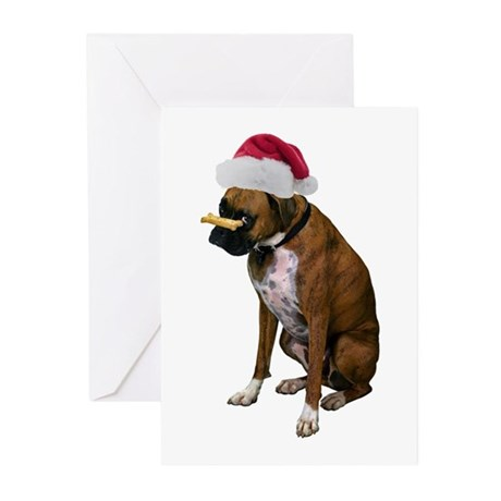 Santa Boxer Christmas Greeting Cards (Pk of 20)