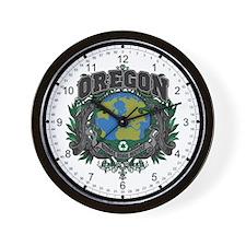 Oregon Green Pride Wall Clock