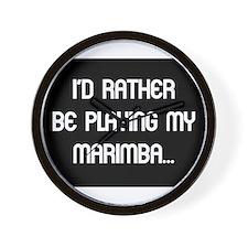 Rather be playing the marimba Wall Clock