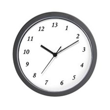 13 Hour Wall clock
