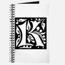Art Nouveau Initial K Journal