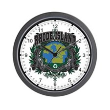 Rhode Island Green Pride Wall Clock