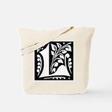 Art Nouveau Initial L Tote Bag