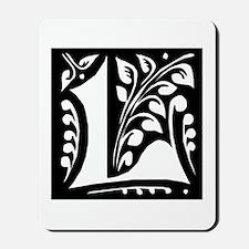 Art Nouveau Initial L Mousepad
