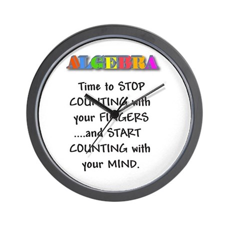 ALGEBRA TIME TO STOP COUNTING Wall Clock