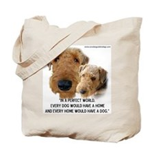 Cute 2 dogs Tote Bag