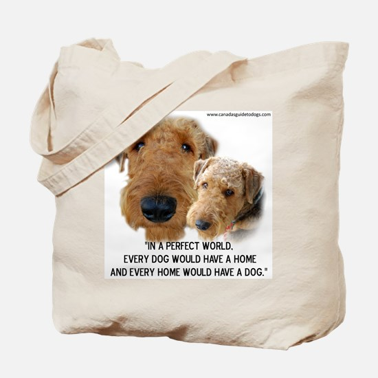 Cute Airedales Tote Bag
