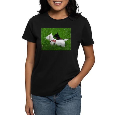 Westie and Scottie Women's Dark T-Shirt