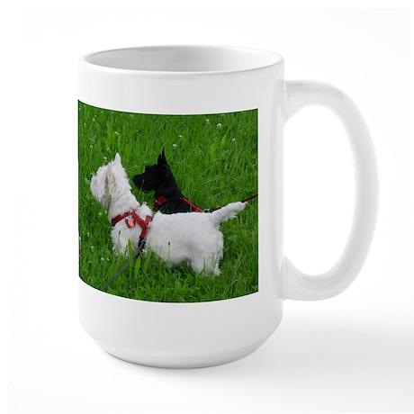 Westie and Scottie Large Mug