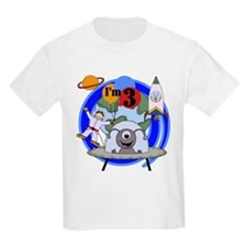 Outer Space 3rd Birthday T-Shirt