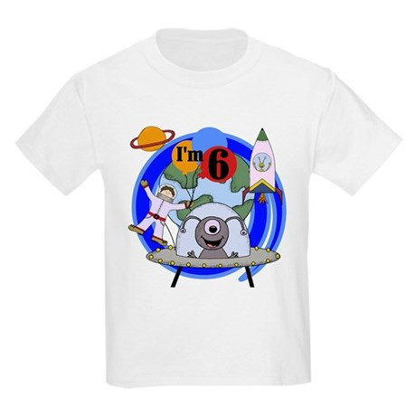 Outer Space 6th Birthday Kids T-Shirt