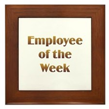 Employee of Week Framed Tile
