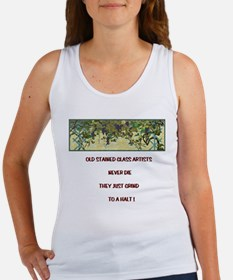 Stained Glass Artist-GrapeArb Women's Tank Top