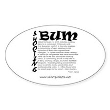"ShortPockets ""Shooting Bum"" Oval Decal"