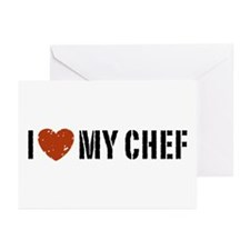 I Love My Chef Greeting Cards (Pk of 10)