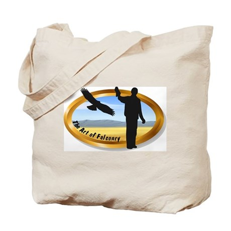 The Art of Falconry - oval Tote Bag