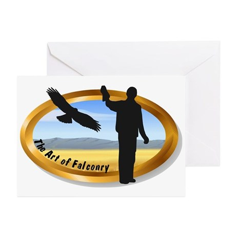 The Art of Falconry - oval Greeting Cards (Package