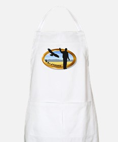 The Art of Falconry - oval BBQ Apron