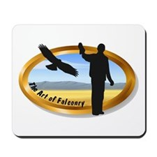 The Art of Falconry - oval Mousepad
