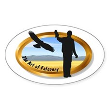 The Art of Falconry - oval Oval Decal