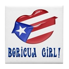 Boricua Girl Tile Coaster