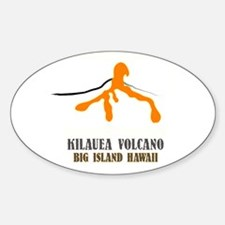 Kilauea Brushstroke Oval Decal
