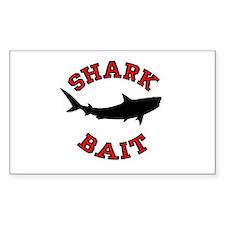 Shark Bait Rectangle Decal