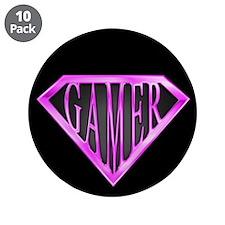"SuperGamer(Pink) 3.5"" Button (10 pack)"