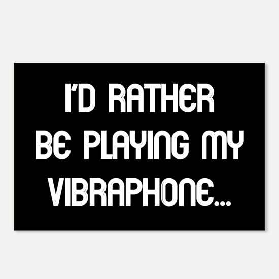Rather be playing the vibraph Postcards (Package o