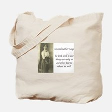 Grandmother Says 9 Tote Bag