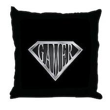 SuperGamer(metal) Throw Pillow