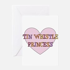 Tin Whistle Princess Greeting Card