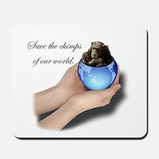 Save The Chimps Mousepad
