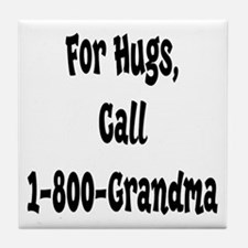 Grandma Hugs Tile Coaster