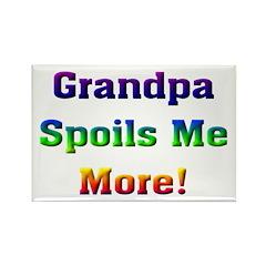 Grandpa spoils me more Rectangle Magnet (10 pack)