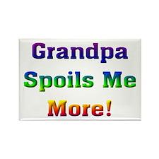 Grandpa spoils me more Rectangle Magnet