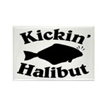Halibut Rectangle Magnet (100 pack)