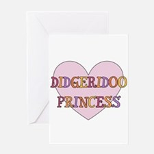 Didgeridoo Princess Greeting Card