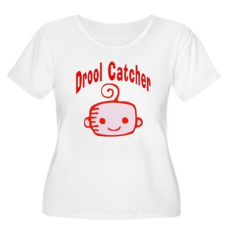 Drool Catcher Women's Plus Size Scoop Neck T-Shirt