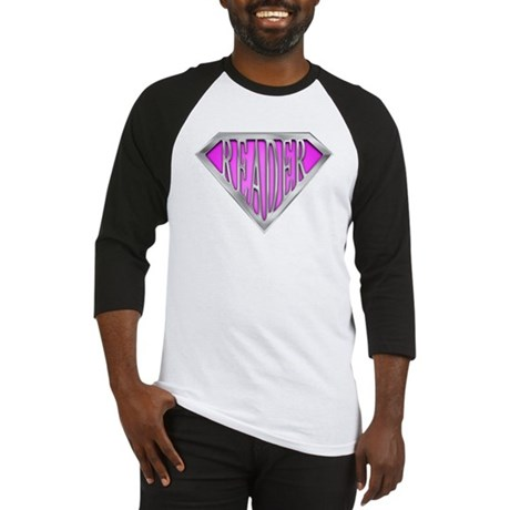 SuperReader(Pink) Baseball Jersey