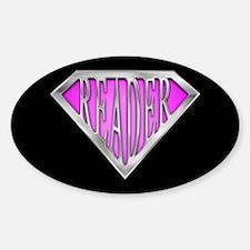 SuperReader(Pink) Oval Decal
