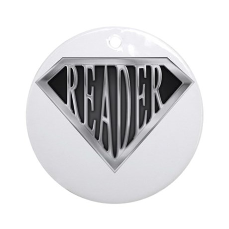 SuperReader(metal) Ornament (Round)