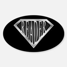 SuperReader(metal) Oval Decal