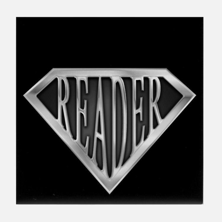 SuperReader(metal) Tile Coaster