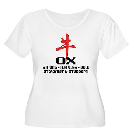 OX Women's Plus Size Scoop Neck T-Shirt