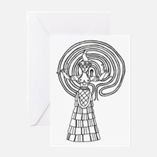 Crete Goddess Greeting Card